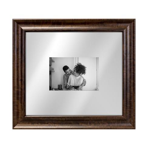 Dark Wood 13x15 Float Single Image Frame 8x10 Brown