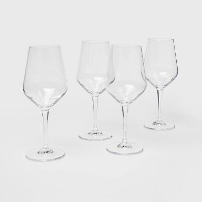 15oz 4pk Glass Atherton White Wine Glasses - Threshold™