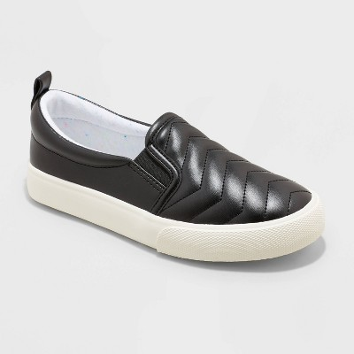 Girls' Nellie Slip-On Apparel Sneakers - Cat & Jack™