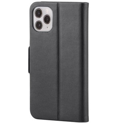 Monoprice iPhone 11 Pro Max (6.5)  PU Leather Wallet Case - Black - Magnetic Cover, Integrated Stand, With Built-In Card Slots - FORM Collection