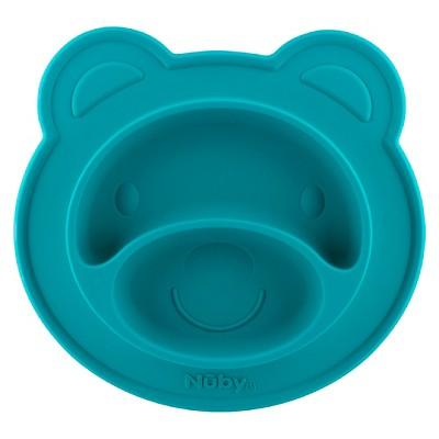 Nuby Bear silicone feeding mat - Aqua