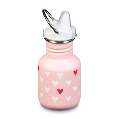 Klean Kanteen 12oz Stainless Steel Kids' Classic Millennial Hearts Water Bottle with Sippy Cap