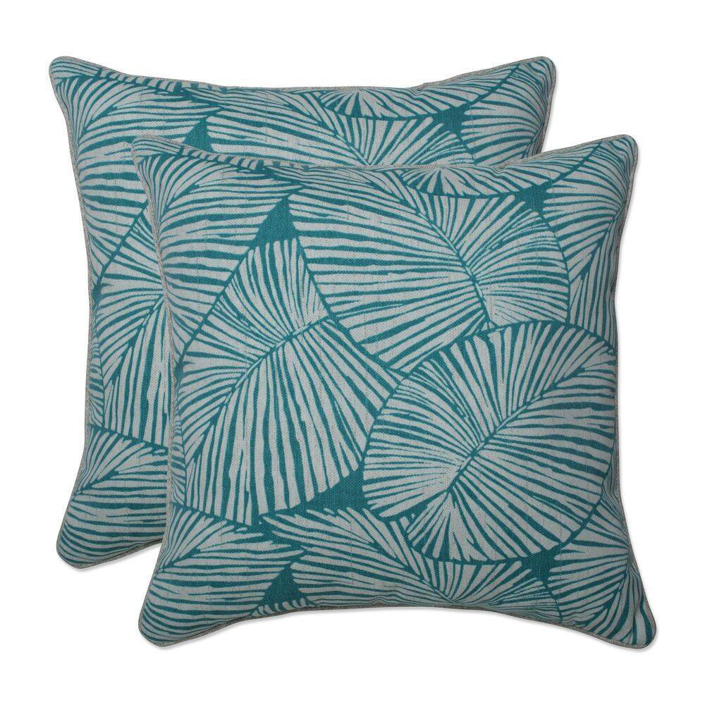 2pc 18 5 34 Outdoor Indoor Throw Pillow Set Talia Seaglass Green Pillow Perfect