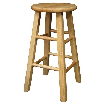 Landon Wood Seat 24  Counter Stool Natural - Room Essentials™