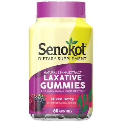 Senokot Dietary Supplement Laxative Gummies - Mixed Berry - 60ct