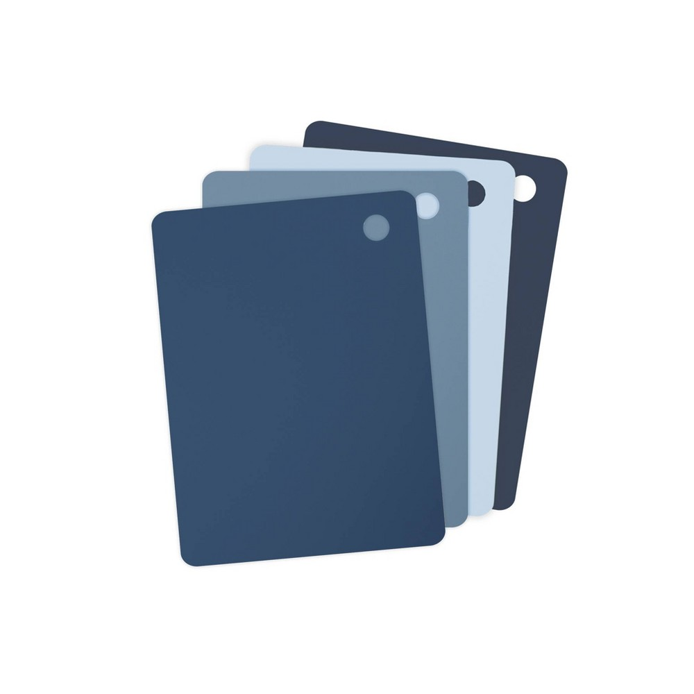 Tovolo Elements Small Flexible Cutting Mats Set Of 4 13061 399 Blues