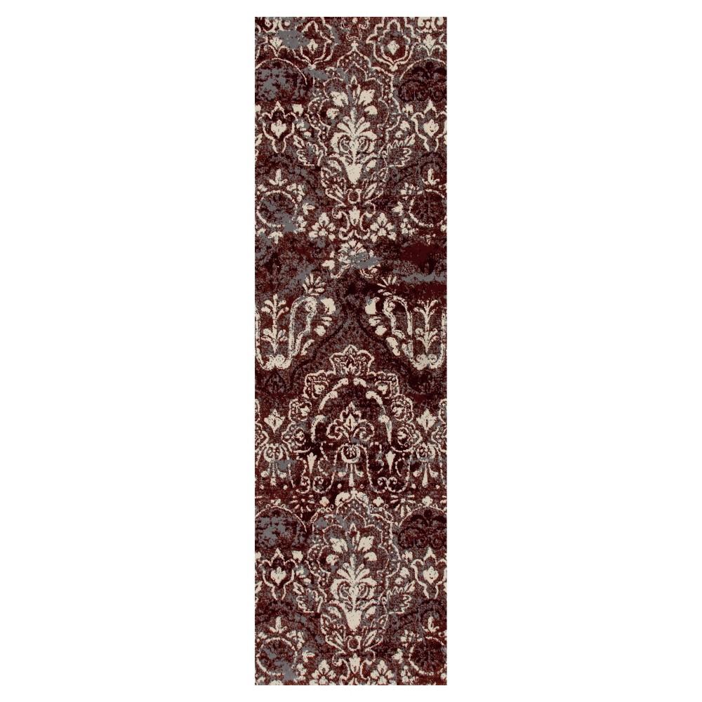 Image of Red Classic Woven Runner - (2'X8') - Art Carpet, Size: 2'X8' RUNNER