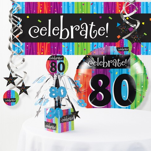 Milestone Celebrations 80th Birthday Party Decorations Kit Target