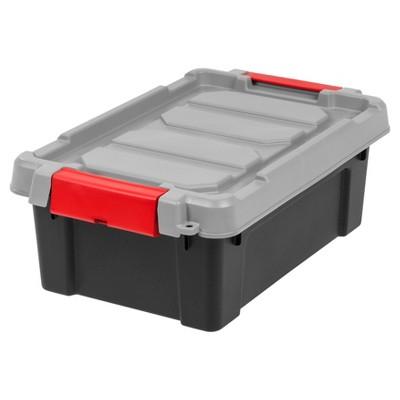 Superbe Heavy Duty Plastic Storage Bin   6pk, Black : Target