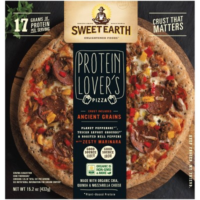 Sweet Earth Protein Lover's Frozen Pizza with Vegan Pepperoni - 15.2oz