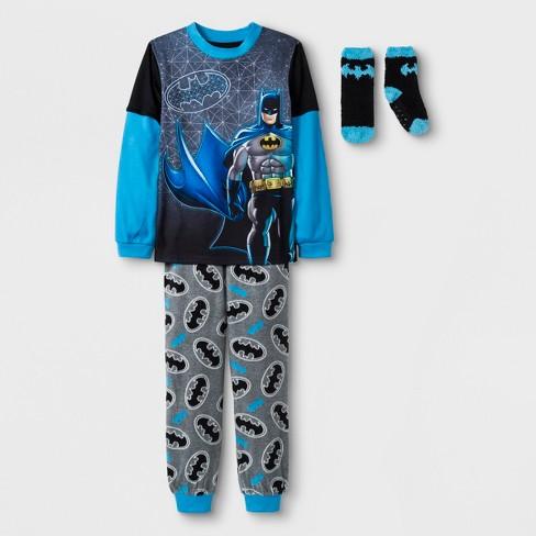 Boys' Batman 2pc Pajama Set with Sock - Black - image 1 of 1