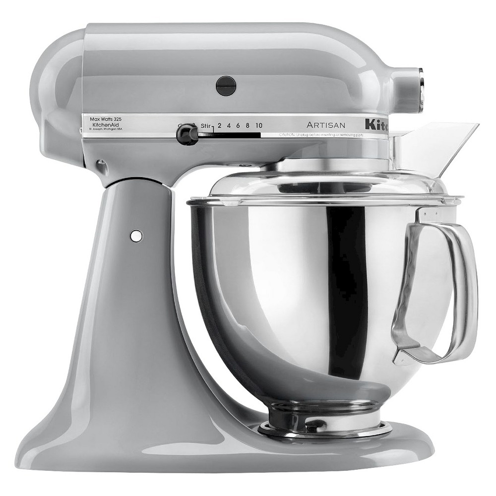 KitchenAid Artisan Series 5 Quart Tilt-Head Stand Mixer- Ksm150, Metallic Chrome 10194701