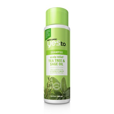 Yes to Naturals Tea Tree & Sage Oil Scalp Relief Shampoo - 12 fl oz
