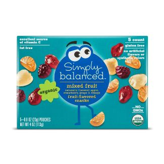 Mixed Fruit Flavored Snacks - 5ct - Simply Balanced™