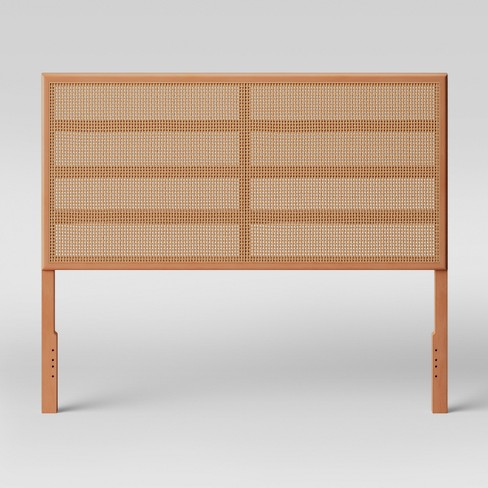 Queen Minsmere Caned Headboard Natural Brown - Opalhouse™ - image 1 of 4