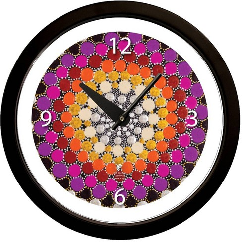 """14.5"""" Artist Series Amy Diener Warm Decorative Clock Black - The Chicago Lighthouse - image 1 of 3"""