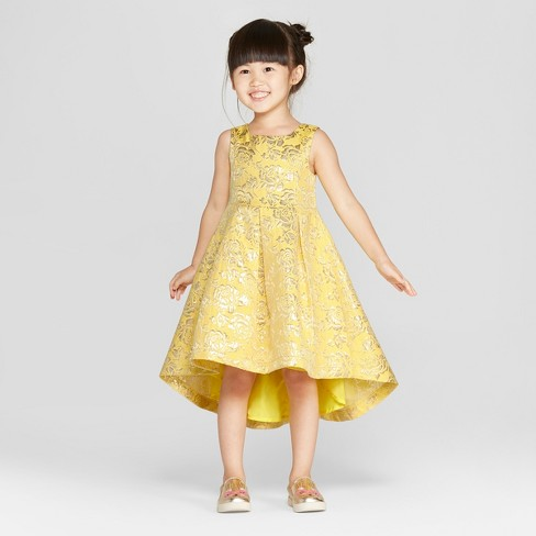 Toddler Girls  Disney Princess Belle Dress - Yellow   Target a65c42dab549