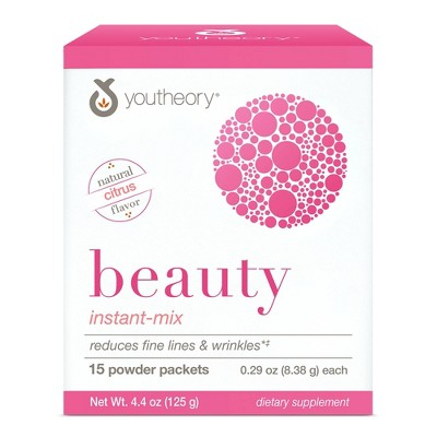 Youtheory Beauty Instant-Mix Powder Packets - 15ct