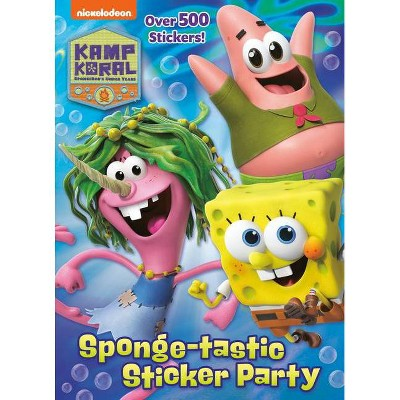 Sponge-Tastic Sticker Party (Kamp Koral: Spongebob's Under Years) - by  Golden Books (Paperback)