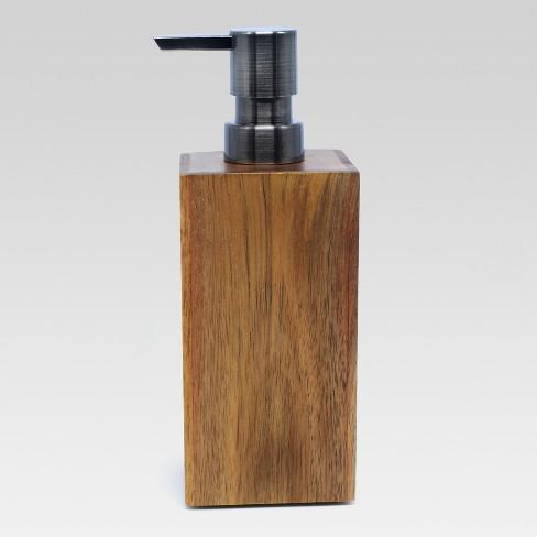 Medium Acacia Soap Pump Natural Threshold Target