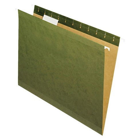 Pendaflex Reinforced Hanging File Folders with 1/5 Tab, Letter - Green (25 Per Box) - image 1 of 2