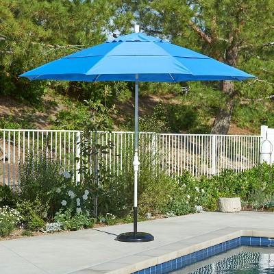 11u0027 Aluminum Collar Tilt Crank Patio Umbrella   California Umbrella : Target