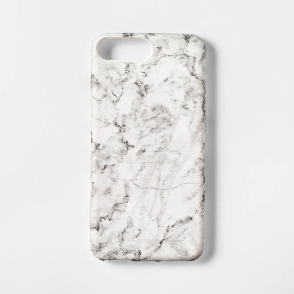 heyday Apple iPhone 8 Plus/7 Plus/6s Plus/6 Plus Case - White Marble, Blue