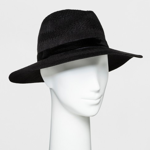 Women's Knit Panama Hat - A New Day™ Black - image 1 of 1