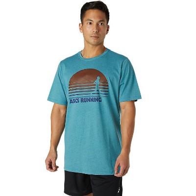 ASICS Men's M SS SUNRISE RUNNER GRAPHIC TEE 2031C811