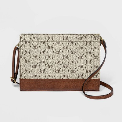 Bueno Zip Closure Mini Crossbody Bag - Light Tan