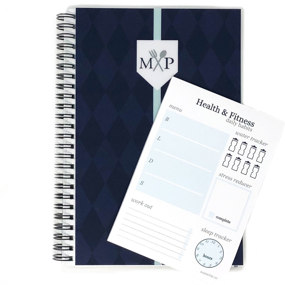 Weekly Meal Planner 8.5 x5.5 & Sticky Pad Bundle Navy (Blue) - Kahootie Co Our new Health and Fitness Bundle combines our Weekly Meal Planner to plan your meals in advance and our Daily Fitness Sticky Pad to help jump start a fitness habit. They are the perfect combo to help you stay organized and create a healthy lifestyle. Write it down and make it happen. Color: Navy. Age Group: Adult.