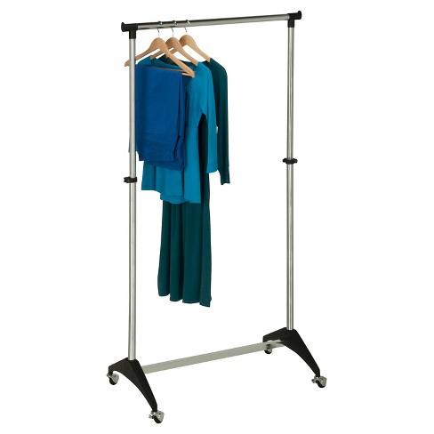 Honey-Can-Do Adjustable Rolling Garment Rack - Chrome - image 1 of 3