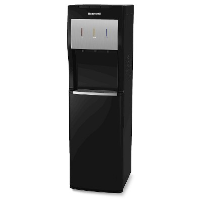 "Honeywell 40"" Bottom Loading Freestanding Hot, Room & Cold Water Cooler – Black"