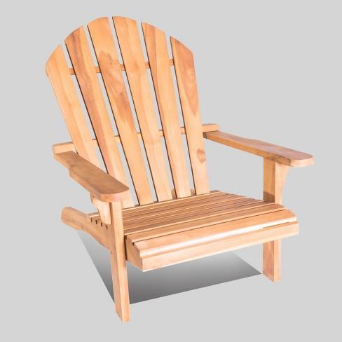 Redondo Teak Wood Adirondack Chair - LuXeo - image 1 of 5