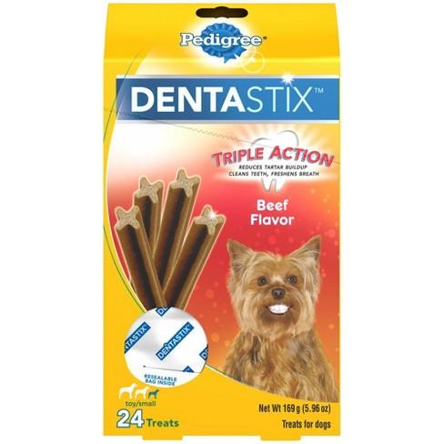 Pedigree Dentastix Toy/Small Beef Flavor Treat 6oz - image 1 of 4