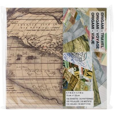 "Origami Paper 6""X6"" 150/Pkg-Travel Theme"