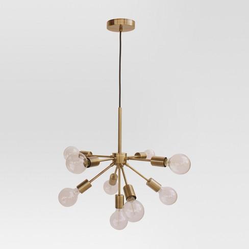 Menlo Asterisk Ceiling Light Brass - Project 62™ - image 1 of 4