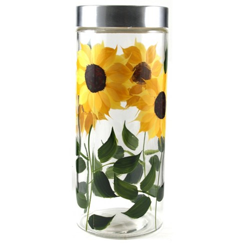 Grant Howard 39517 72 Ounce X Large Hand Painted Sunflower Round Storage Jar - image 1 of 1