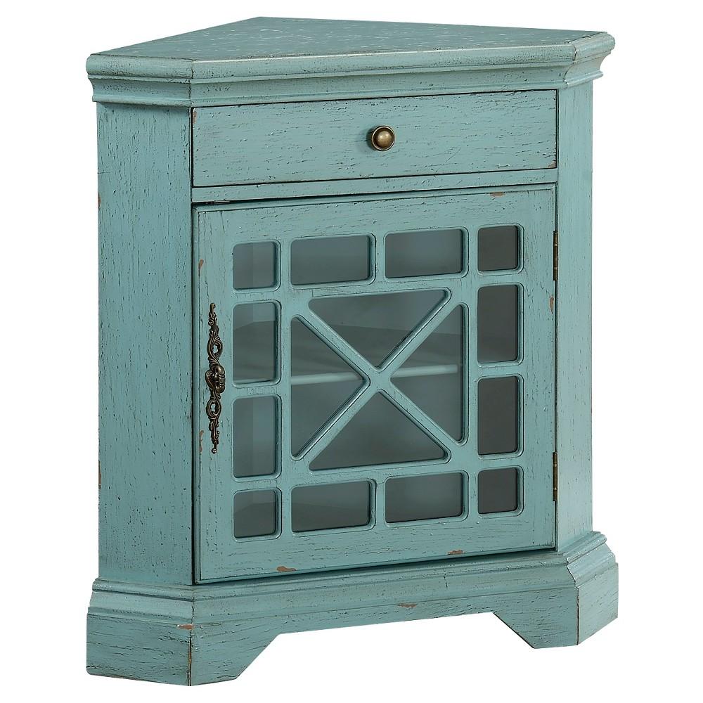 Bayberry Blue Corner Cabinett - Blue - Christopher Knight Home