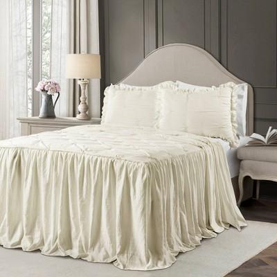 Lush Décor Ravello Pintuck Ruffle Skirt Bedspread & Sham Set
