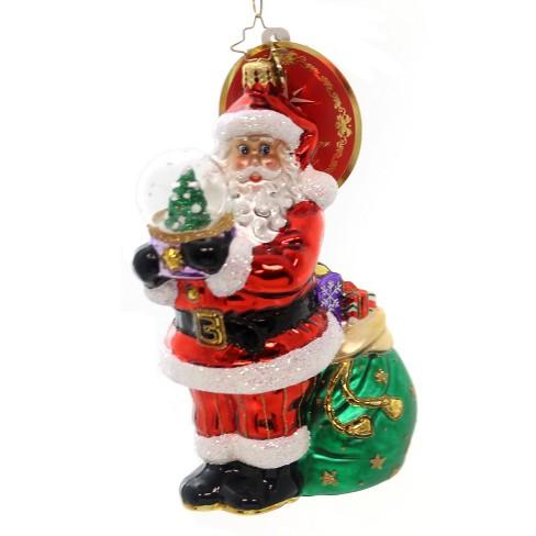 Christopher Radko Winter Land Treasure Ornament Santa Waterball - image 1 of 2
