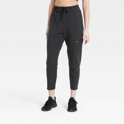 "Women's Mid-Rise Cargo Jogger Pants 26"" - All in Motion™"
