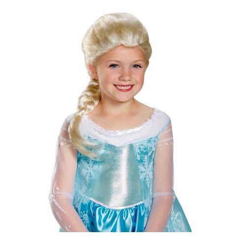 Girls Disney Princess Elsa Halloween Costume Wig Target