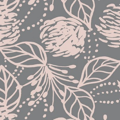 Sketch Floral Gray Pink