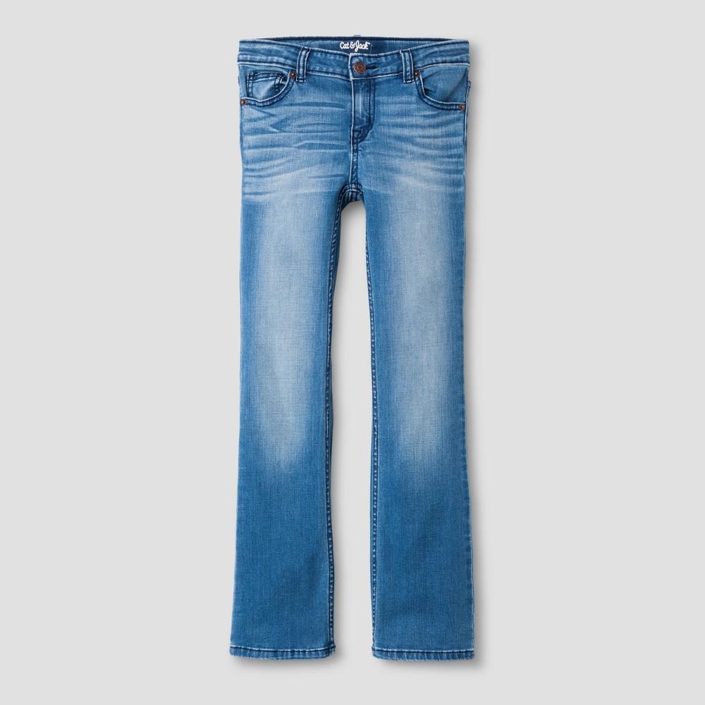 Girls' Bootcut Jeans - Cat & Jack Medium Wash 6X, Blue
