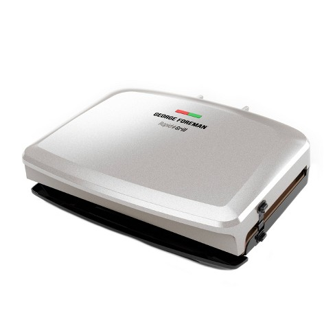 George Foreman Rapid Series 5-Serving Indoor Grill and Panini Press - White - image 1 of 4