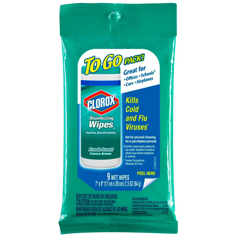 Clorox Disinfecting Wipes On The Go Fresh Scent 9 ct