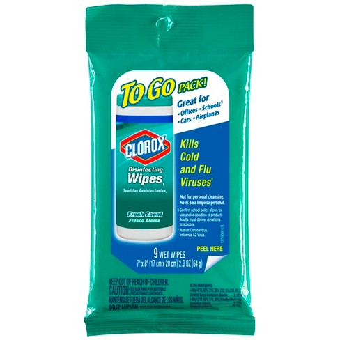 clorox disinfecting wipes on the go fresh scent 9 ct target