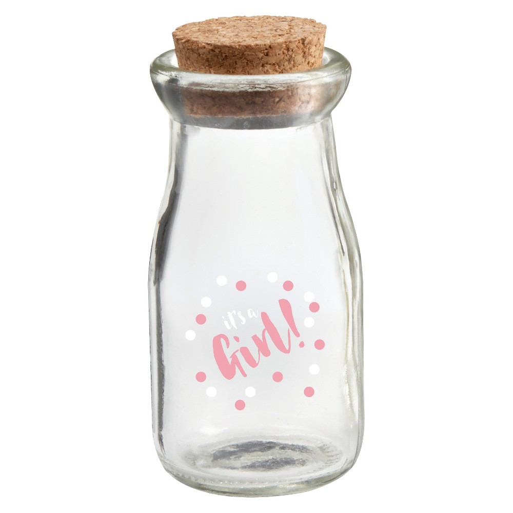 Image of 12ct Kate Aspen It's a Girl Milk Jar, Clear