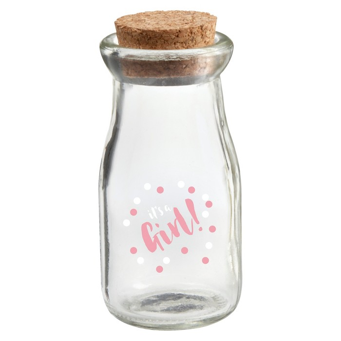 "12ct ""It's a Girl"" Milk Jar - image 1 of 1"